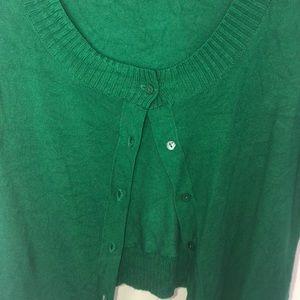 Ann Taylor Sweaters - Ann Taylor Loft Green Shrug/Cardigan
